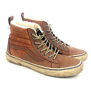Vans Hana Beaman Brown SK8 Skate Shoes High Top
